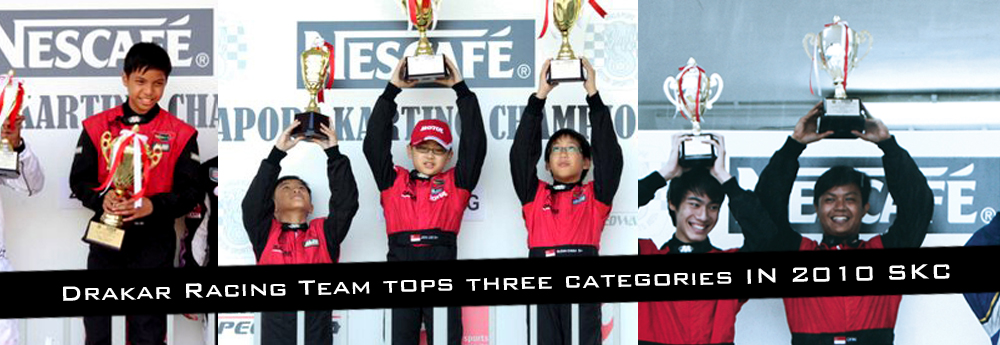 Drakar Racing Team Tops Three Categories At 2010 Singapore National Karting Championship