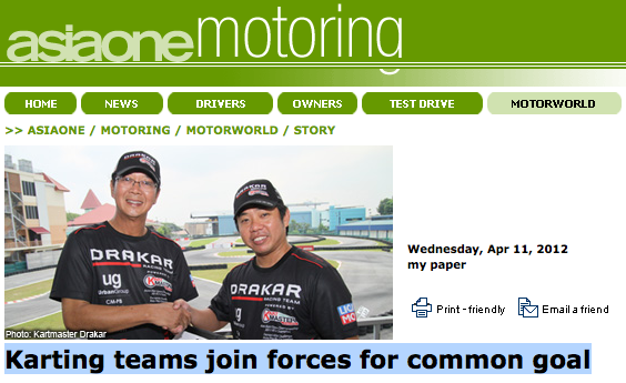 AsiaOne.com—Karting teams join forces for common goal