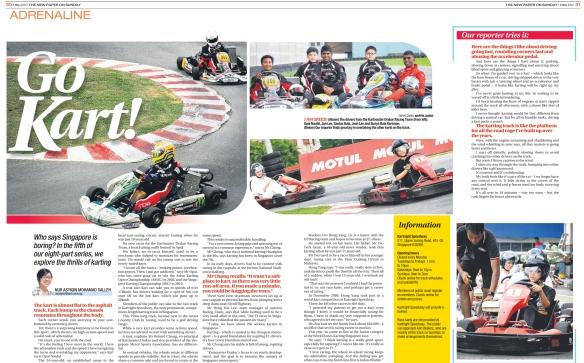 The New Paper Sunday — Go Kart!