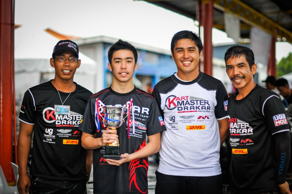 "Juan Antonio L Carcel, won 3rd place for ""Petron Super Karting Championship"""