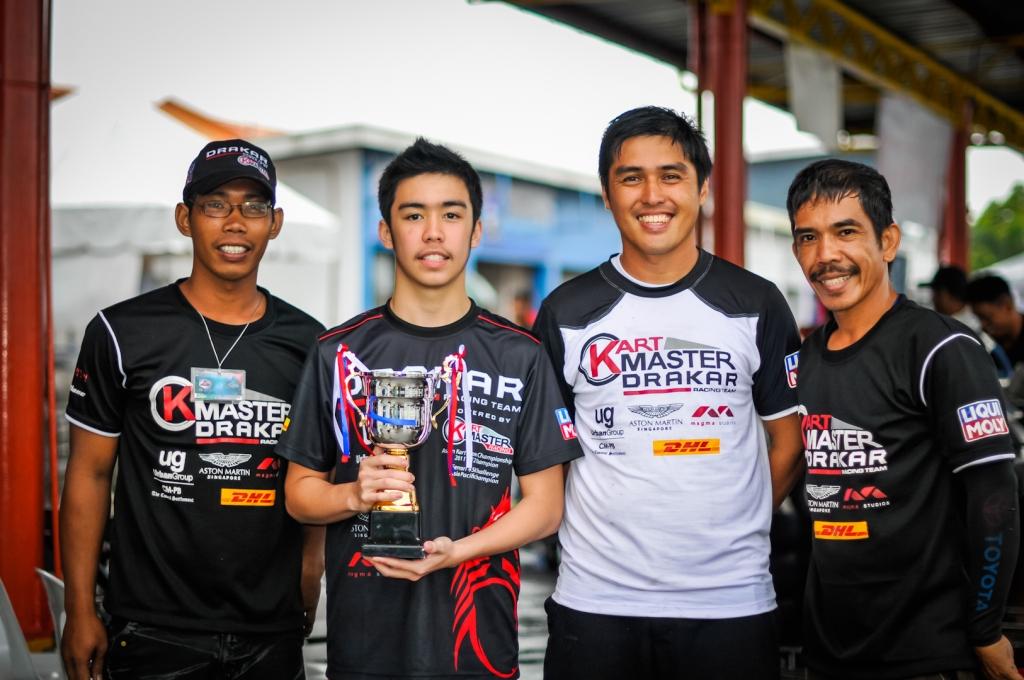 "Juan Antonio L Carcel, won 3rd place for ""Petron Super Karting Championship"""