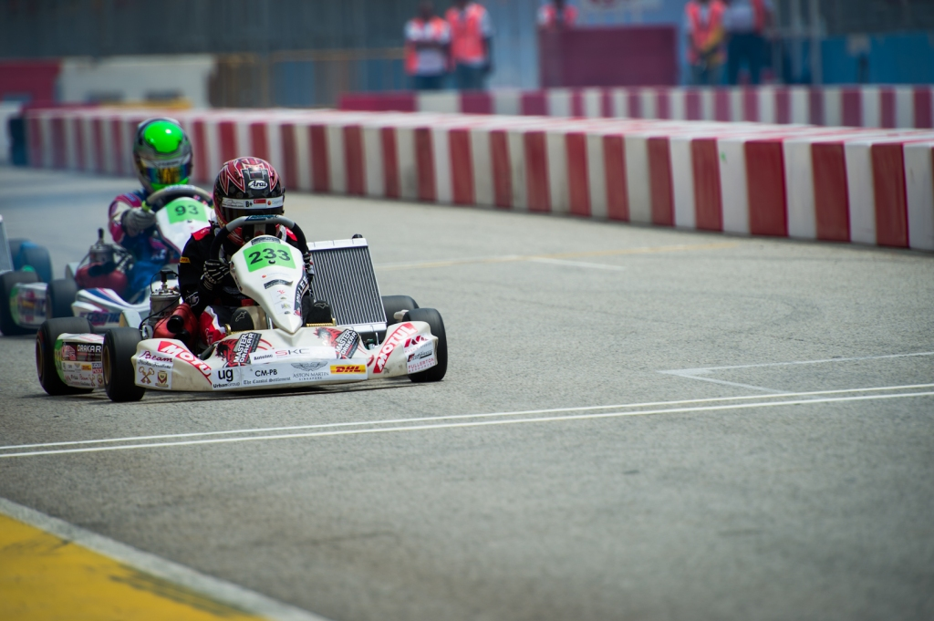 Jon Lee at Marina F1 track