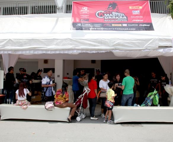 Kartmaster Drakar VIP Tent at SKC Round 2