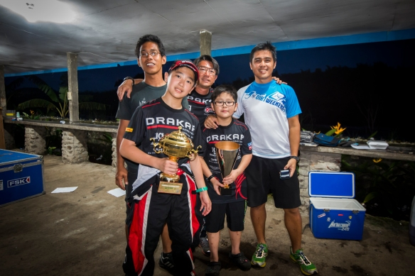 The Lee family with JP and Raymond