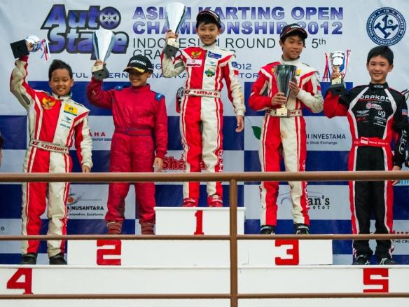 Winners of 2012 AKOC Rd 4 Formula 125 Mini Rok Category
