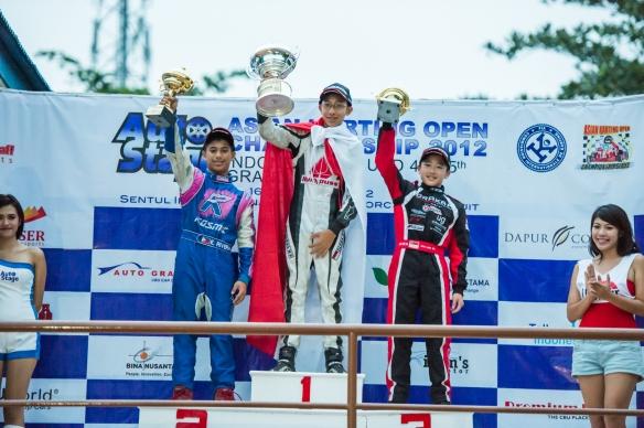 Overall Winners of 2012 AKOC Formula 125 Junior